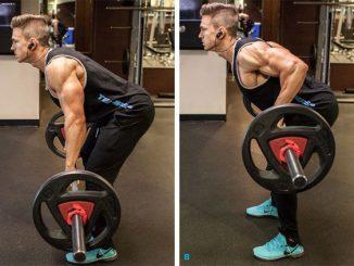 ejercicio remo con barra