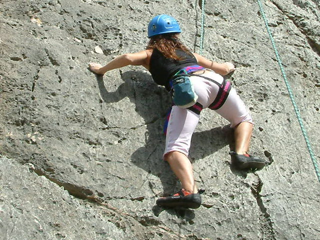 deportivo en la escalada